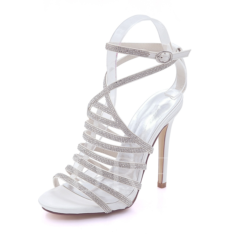 Buy Rhinestone Strappy Women's Delicacy Sandals Bridals Shoes, Spring,Summer, 13205213 for $59.99 in TBDress store
