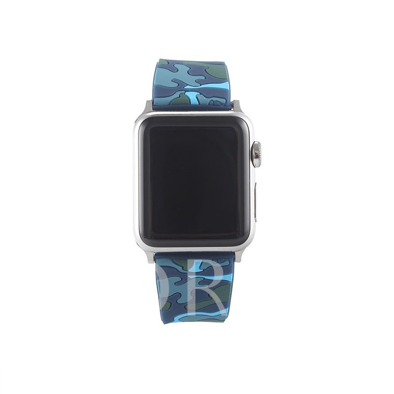 New Camouflage Color Strap Apple Silicone Strap for Apple Watch