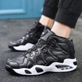 High Top Shoes Lace Up Street Style Athletic Sneakers for Men