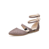 Flat With Glitter Buckle Mary Jane Shoes for Women