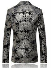 Notched Collar Floral Printed Slim Men's Blazer