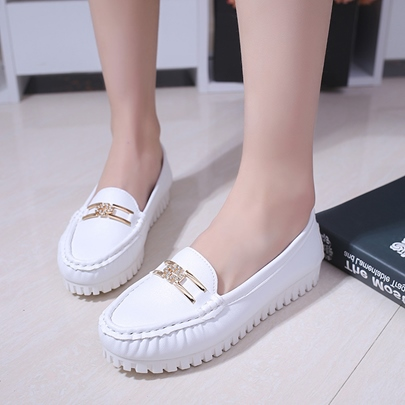 Rhinestone Skidproof Flat With Casual Boat Shoes