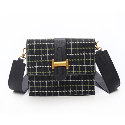 Belt Decorated Stripe Women Crossbody Bag