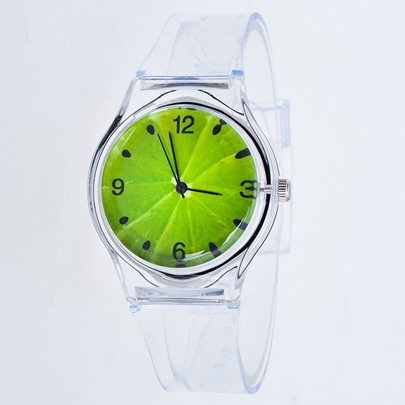 Analogue Display Transparency Plastic Watches