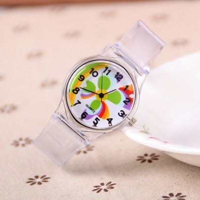 Transparent Analogue Display Plastic Watches