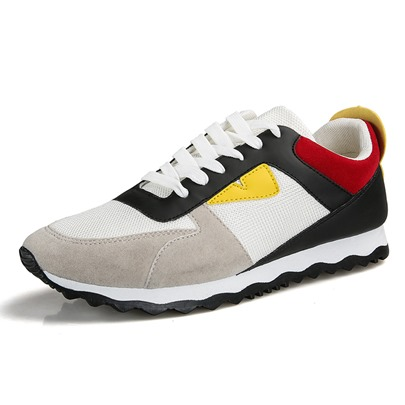 Mesh Color Block Men's Athletic Shoes