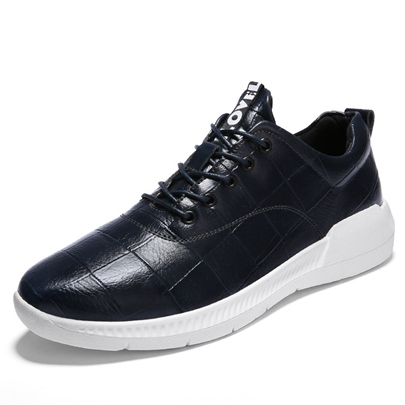 PU Shoes Open Lacing Sneakers for Men