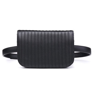 Modern Style Pleated Waist Pack