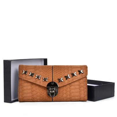 Stylish Rivet Decoration Women Wallet