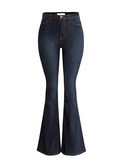 Denim High Waist Women's Bell-Bottom Jeans Trousers