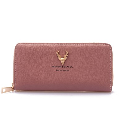Chic Plain Zipper Wallet
