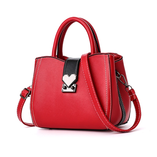 Belt Decorated Solid Color Women Tote Bag