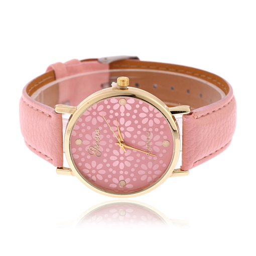 Floral Alloy Glass Analogue Watches