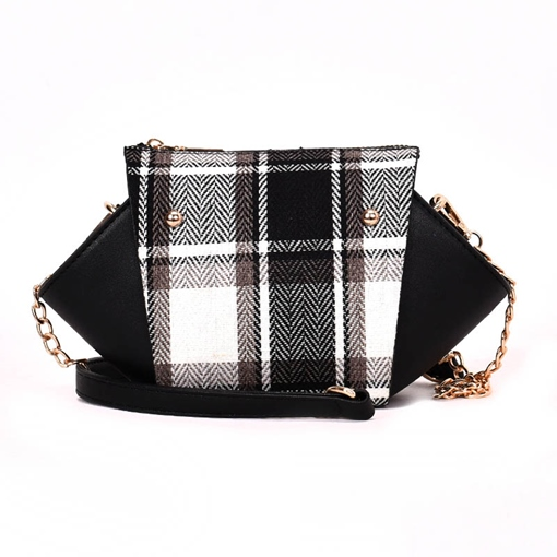 Classic Plaid PU Women Cross Body Bag