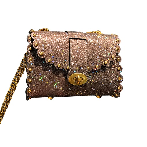 Trendy Sequins Color Block Women Cross Body Bag