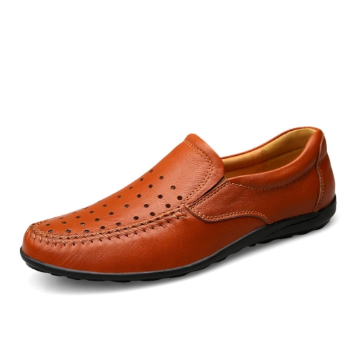 Slip On Hollow Out Men's Plain Loafers Profession Shoes