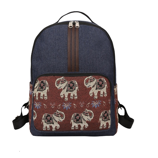 Chic Color Block Prints Women Backpack