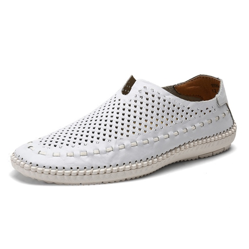 Hollow Out Seaside Shoes Breathable Boat Shoes for Men
