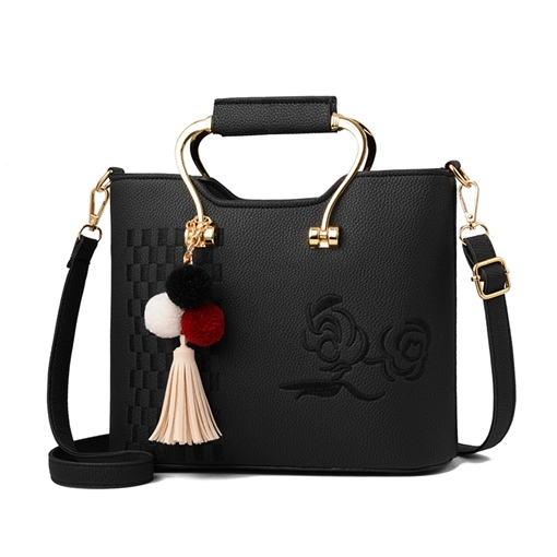 Chinese Style Zipper Pendant Tote Bag