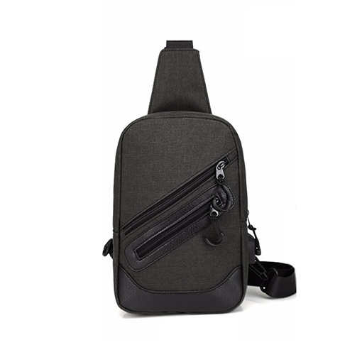 Casual Double Zipper Men's Bag