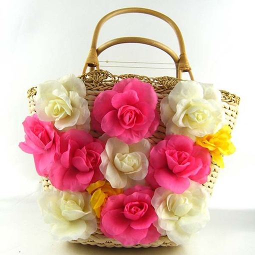 Summer Flower Fresh Style Straw Bag