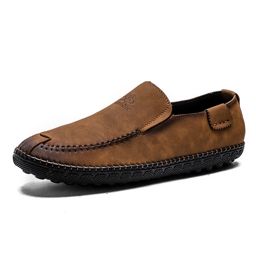 Sewing Suede Slip On Boat Shoes Loafers for Men