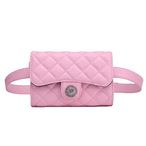 Terrific Solid Color PU Waist Pack