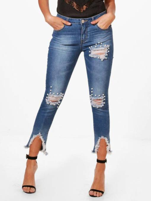 Destroyed Ripped Distressed Skinny Women's Jeans