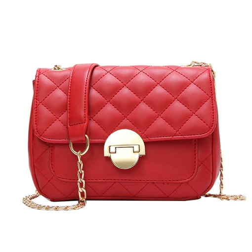 Trendy Rhombus Embroidery Solid Color Crossbody Bag