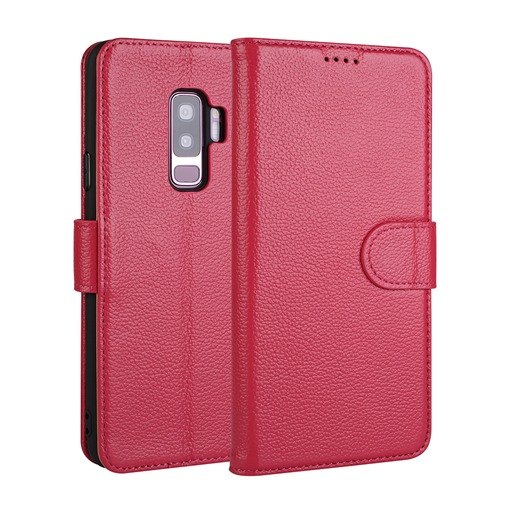 Wallet Phone Case for Samsung S9/S9plus Leather Litchi Pattern