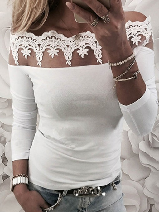 Off Shoulder Lace Women's T-Shirt