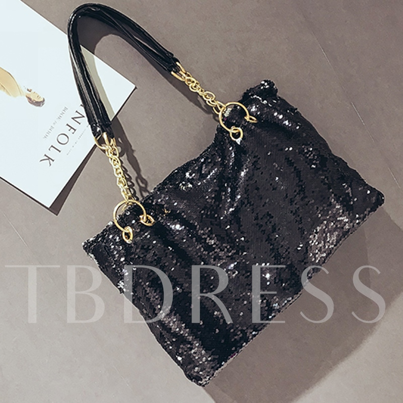 Dazzling Sequins Zipper Shoulder Bag
