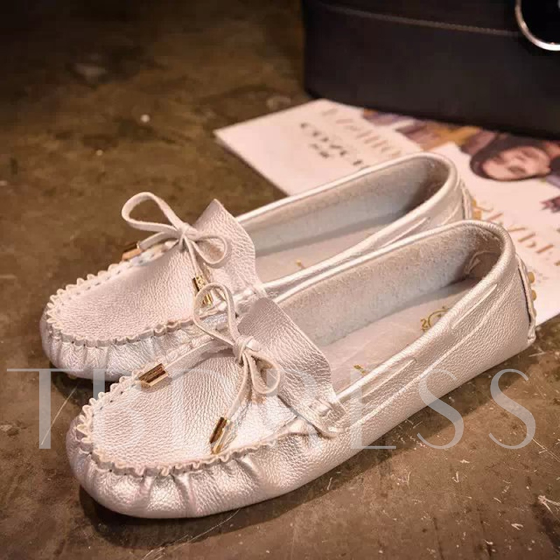 Lace Up Bow Sewing Women's Boat Shoes
