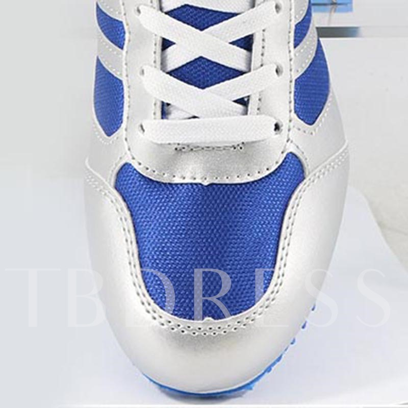 Stripe Tie Up Skidproof Track Shoes for Men