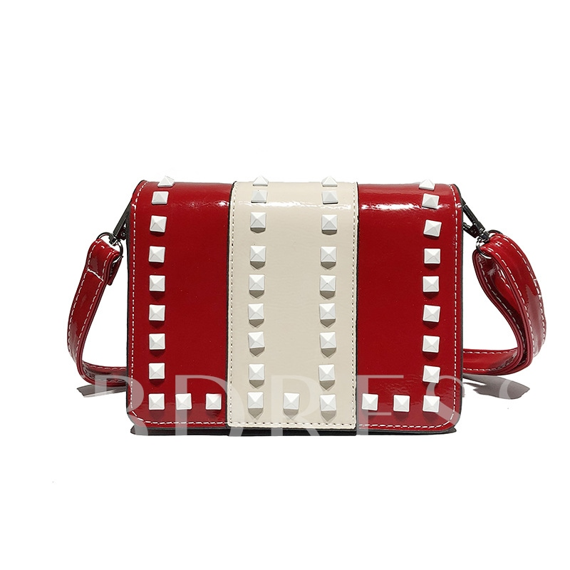 Rivets Adornment Fashion Crossbody Bag
