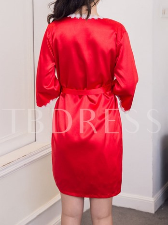 Two-piece Adjustable Shoulder Strap Nightdress and Lace-Up Robe