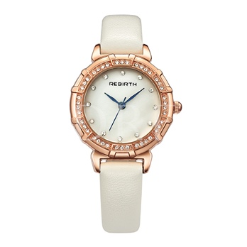 Round Artificial Leather Strap Watches
