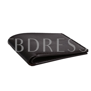 Concise Plain Men's Wallet