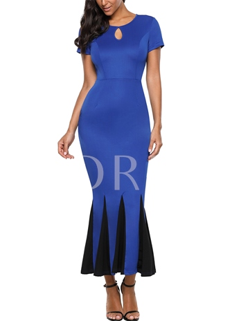 Keyhole High Waist Mermaid Women's Sheath Dress