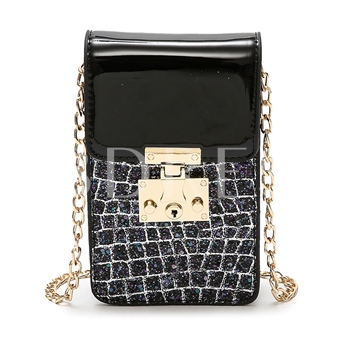 Vogue Croco-Embossed Plain Cross Body Bag