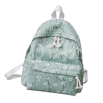 Casual Floral Prints Canvas Backpack