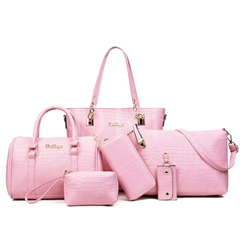 Occident Style Solid Color Women Bag Set