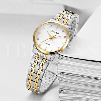 Rhinestone Inlaid Steel Band Watches