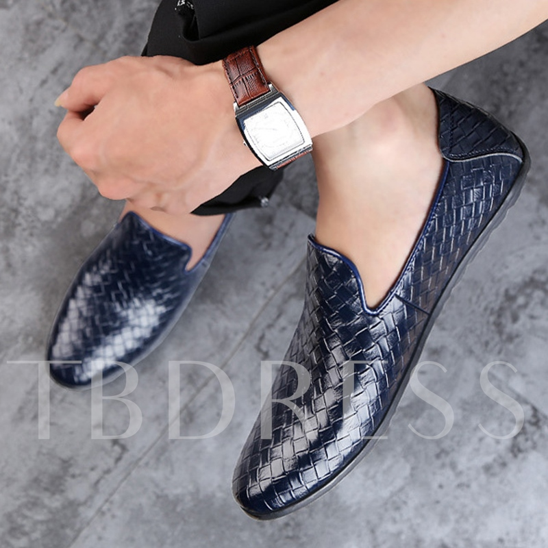 Plaid Round Toe Men's Loafer (Plus Size Avialable)
