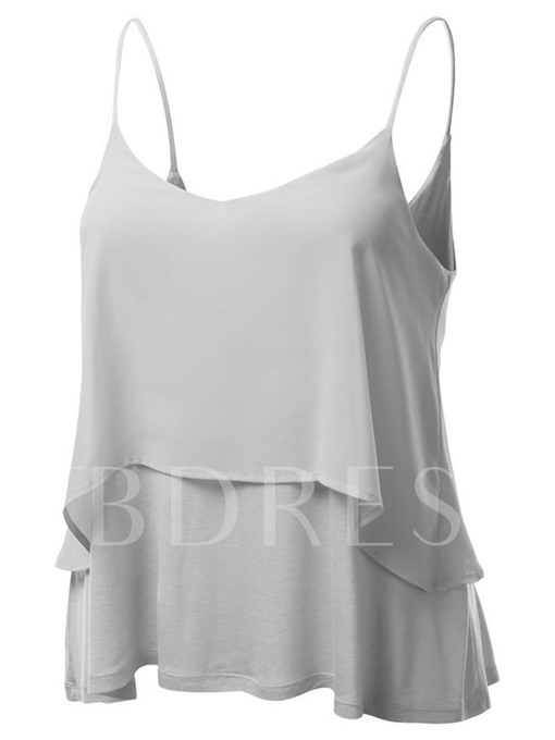 Loose Double-Chiffon Straps Women's Tank Top