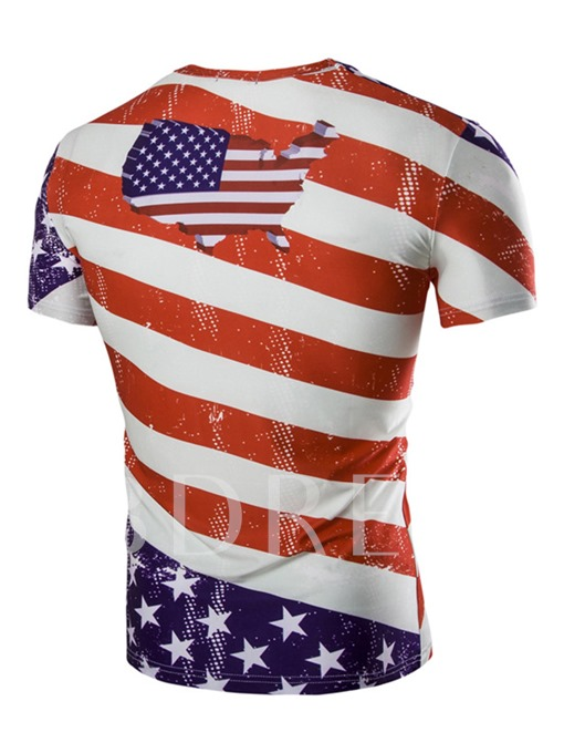 World Cup American Flag Slim Fit Men's T-Shirt
