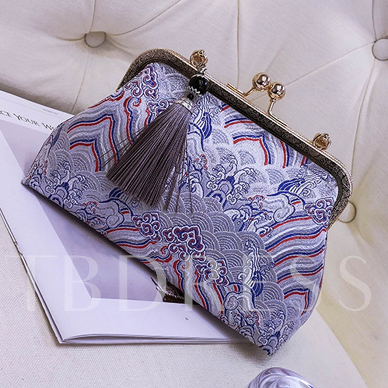 Vogue Color Block Ethnic Style Women Clutch