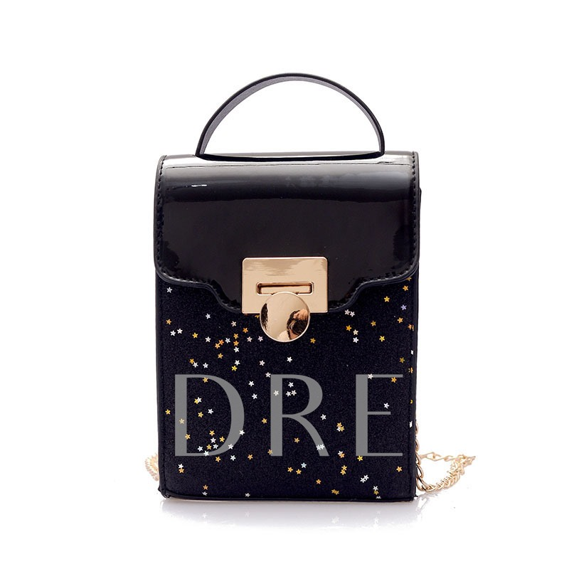 Delicate Sequins PU Crossbody Bag