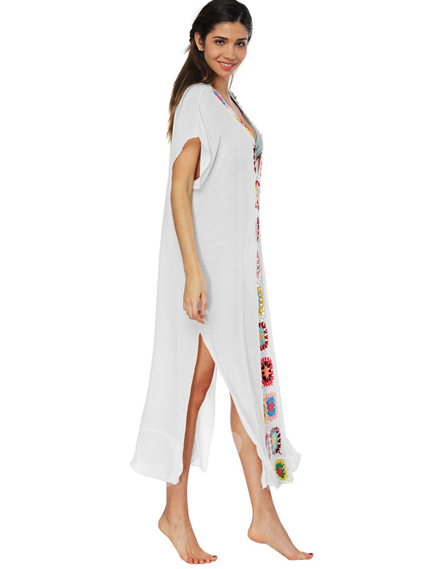 Loose V Neck Women's Beach Dress