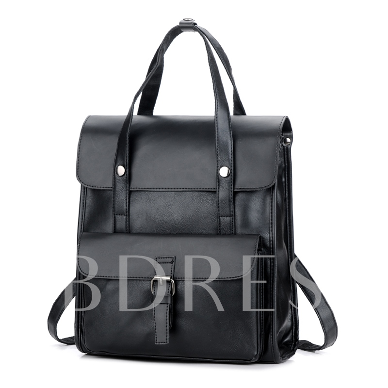 Casual Plain Zipper Men's Backpack